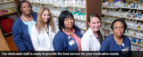 Our dedicated staff is ready to provide the best service for your medication needs.