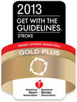 2013 Get with the Guidelines Stroke award from AHA
