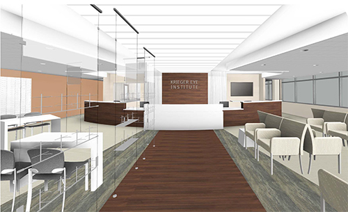 Krieger Eye Lobby at Northwest Hospital