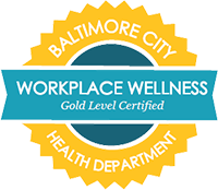 Baltimore City Workplace Wellness Gold Level Certified seal