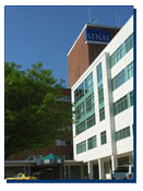 Exterior shot of Sinai Hospital