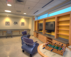 Teen lounge within the Playroom. This is for patients 13 and older